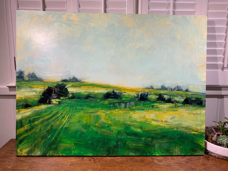 As It So Happens by Angie Renfro, Horizontal Oil on Board Landscape Painting For Sale 2