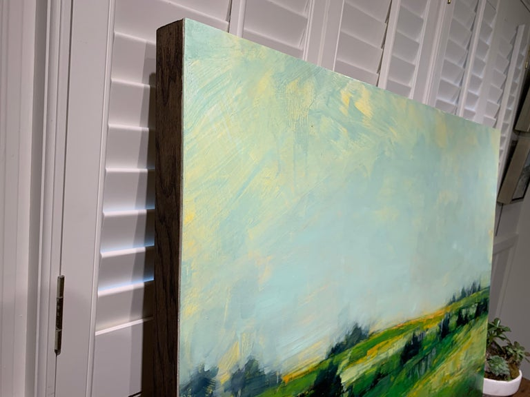 As It So Happens by Angie Renfro, Horizontal Oil on Board Landscape Painting For Sale 4