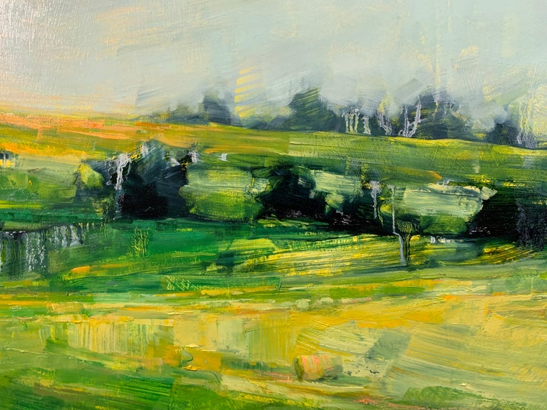 As It So Happens by Angie Renfro, Horizontal Oil on Board Landscape Painting For Sale 6