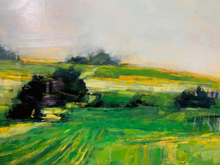 As It So Happens by Angie Renfro, Horizontal Oil on Board Landscape Painting For Sale 7