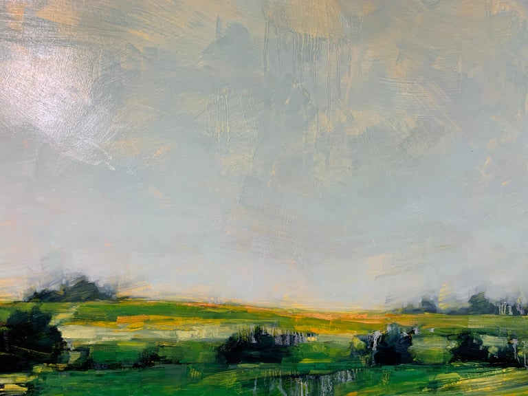As It So Happens by Angie Renfro, Horizontal Oil on Board Landscape Painting For Sale 8