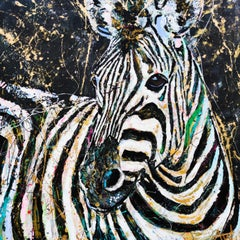 Zebra Stripes - Large painting, Painting, Oil on Canvas