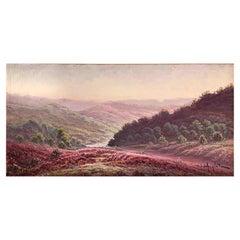 "Anglade Gaston '1854-1919' ""Landscape with Heather in Dordogne"""