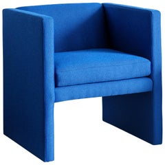 Angle Chair in Maharam Ultramarine Fabric with Hardwood Frame by TRNK