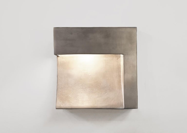 Angle Indoor/Outdoor LED Cast plated Silver or Blackened Wet-Rated Sconce/Light 3