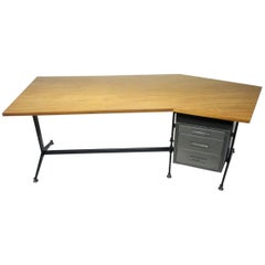Angled Executive Desk by Tecno, Italy, circa 1960