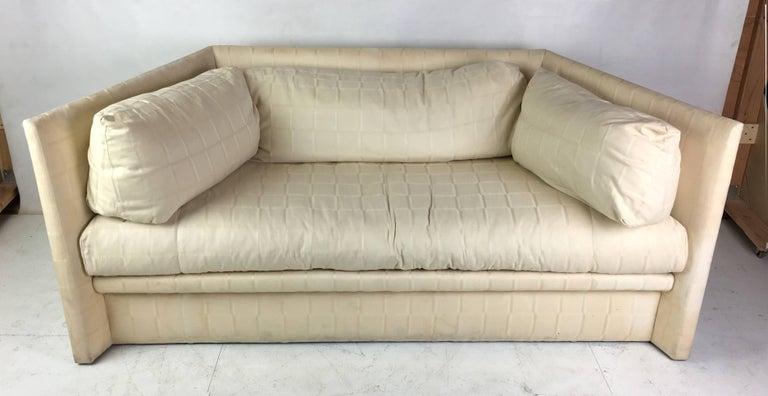 Modern Angled Sides Sofa by John Saladino for Baker For Sale