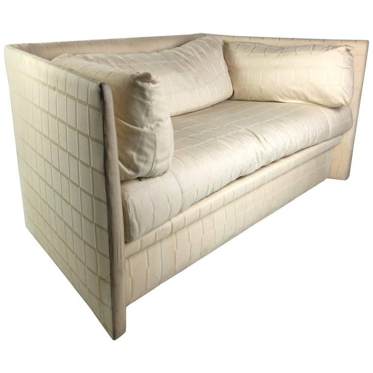 Angled Sides Sofa by John Saladino for Baker For Sale