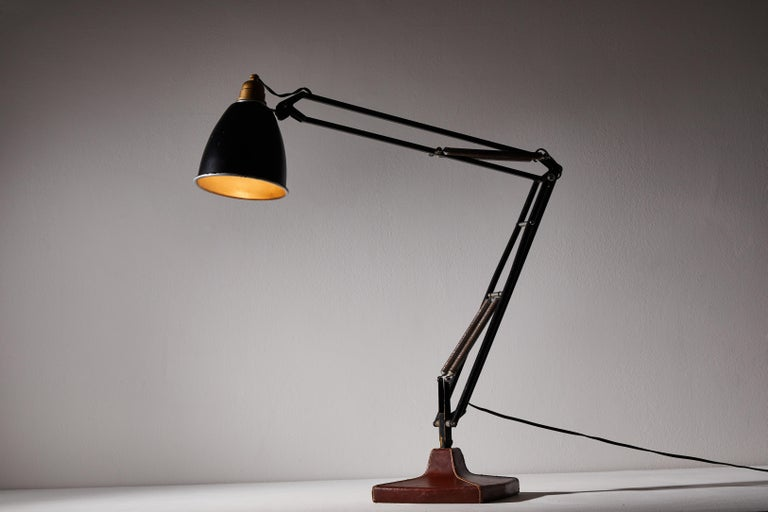Mid-Century Modern Anglepoise Table Lamp by George Cawardine & Hermes For Sale