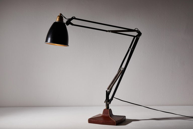 Anglepoise Table Lamp by George Cawardine & Hermes In Good Condition For Sale In Los Angeles, CA