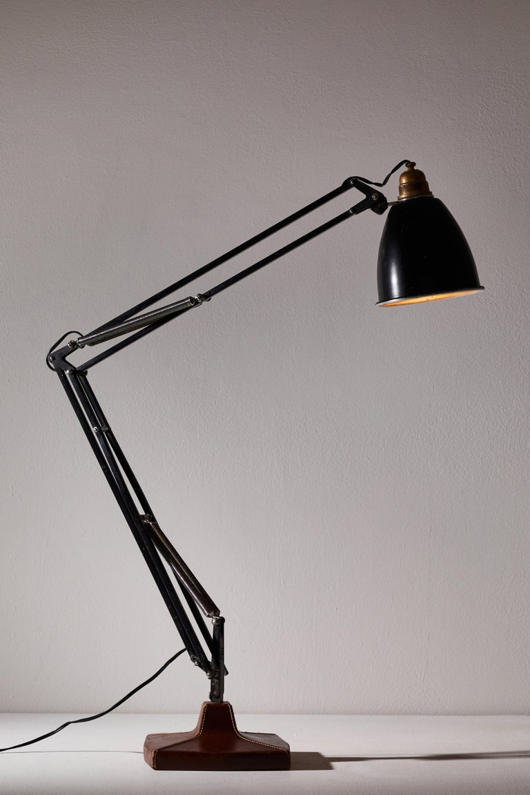 Brass Anglepoise Table Lamp by George Cawardine & Hermes For Sale