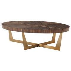 Angles, Oval Modern Coffee Table