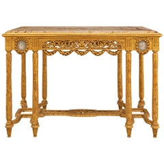 Anglo-French 19th Century Louis XVI St. Center Table