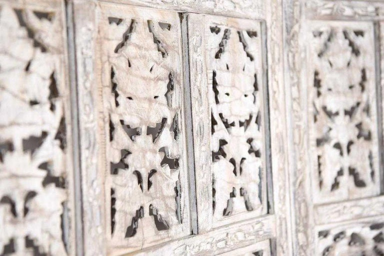 Anglo Indian 4 Panel Folding Screen For Sale 3