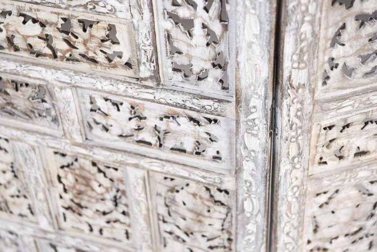 Anglo Indian 4 Panel Folding Screen For Sale 1