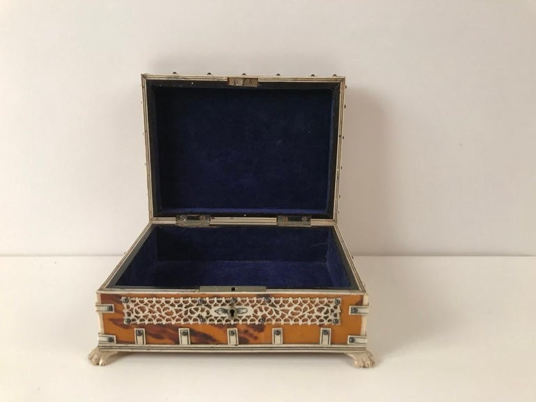 Anglo Indian Bone and Tortoise Shell Box For Sale 6
