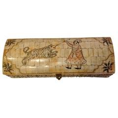 Anglo-Indian Bone Glove Box