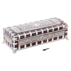 Anglo-Indian Carved Bone and Tortoise Jewelry Box