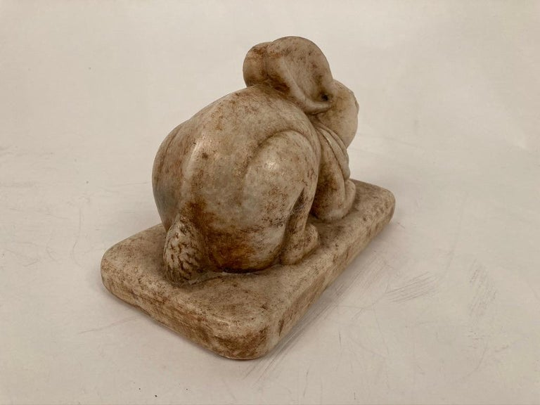 Anglo-Indian Carved Marble Figure of a Rabbit For Sale 6