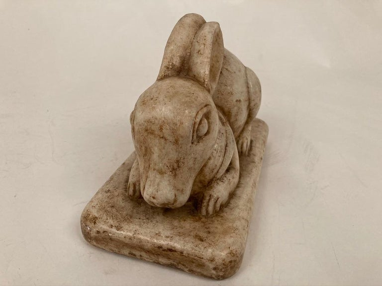 Anglo-Indian Carved Marble Figure of a Rabbit For Sale 10