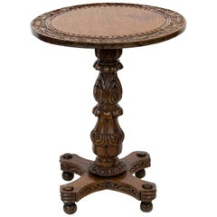 Anglo Indian Carved Tilt Top Table
