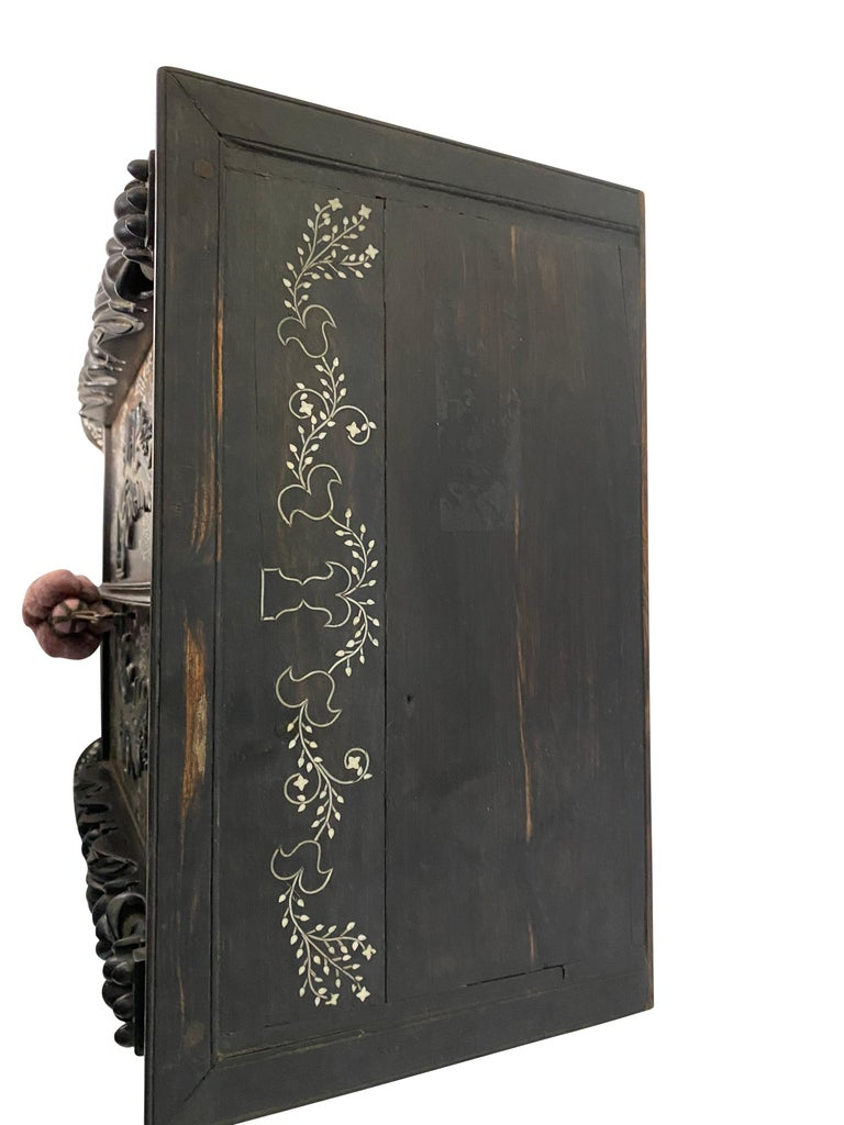 Anglo-Indian Ebony Inlaid Cabinet, 19th Century For Sale 8