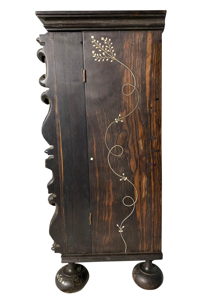 Anglo-Indian Ebony Inlaid Cabinet, 19th Century For Sale 9