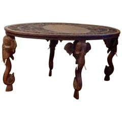 Anglo-Indian Elephant Motif Coffee Table