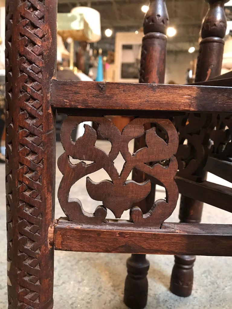 Anglo-Indian Folding Table with Metal Tray For Sale 2