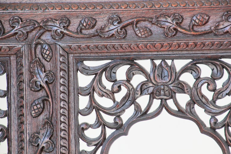 Anglo-Indian Hardwood Three-Panel Screen For Sale 3
