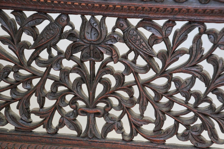Anglo-Indian Hardwood Three-Panel Screen For Sale 1