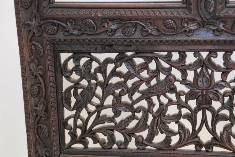 Anglo-Indian Hardwood Three-Panel Screen For Sale 2