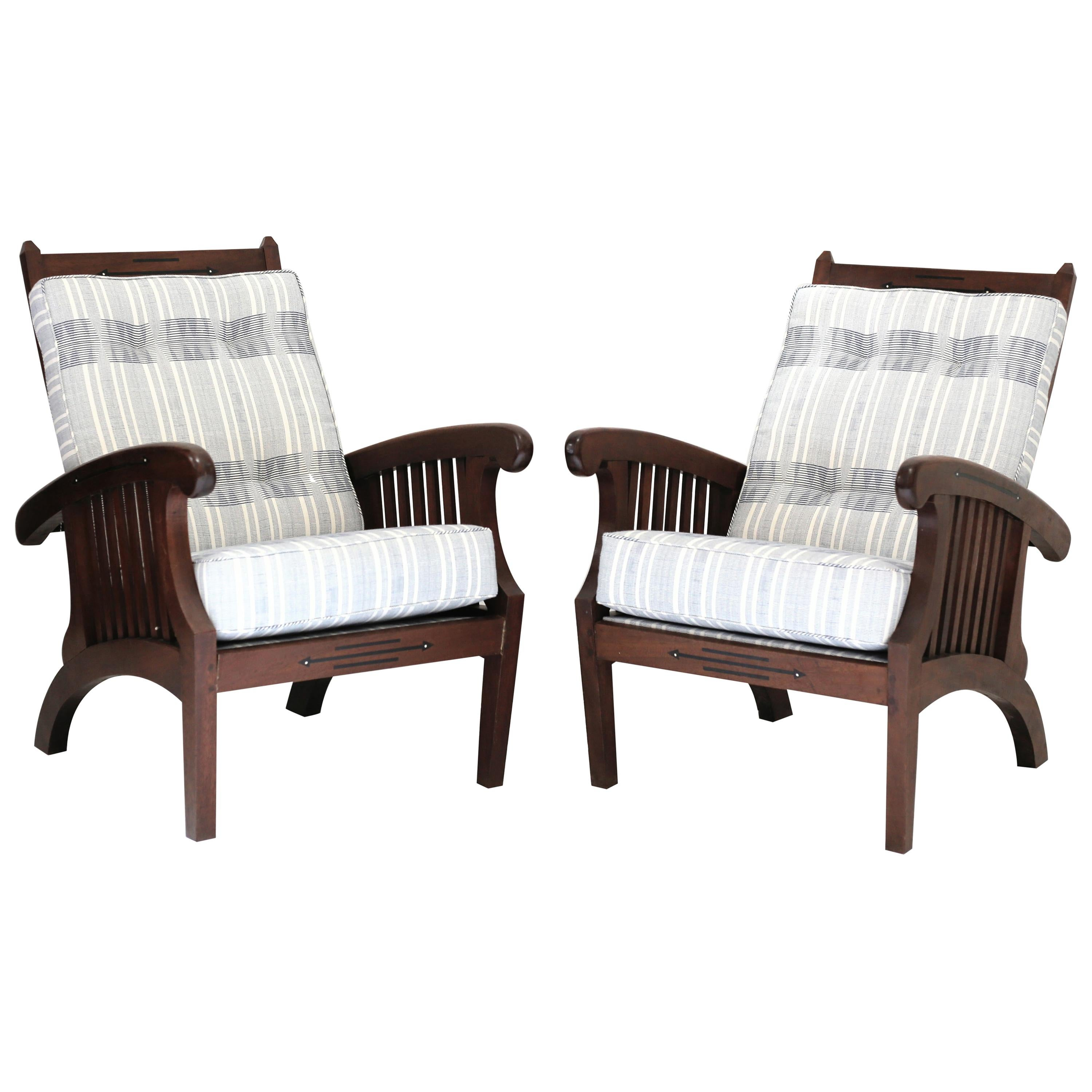 Anglo Indian Inlaid Chair, Pair