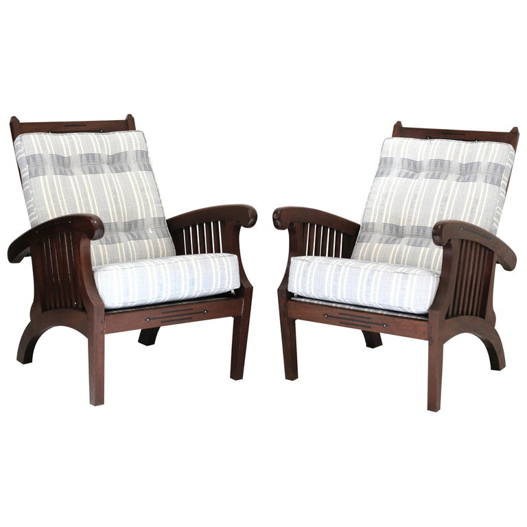 Anglo Indian Inlaid Chair, Pair For Sale