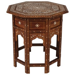Anglo-Indian Inlaid Octagonal Folding Tea Table