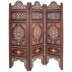 Anglo-Indian Inlaid Table Screen