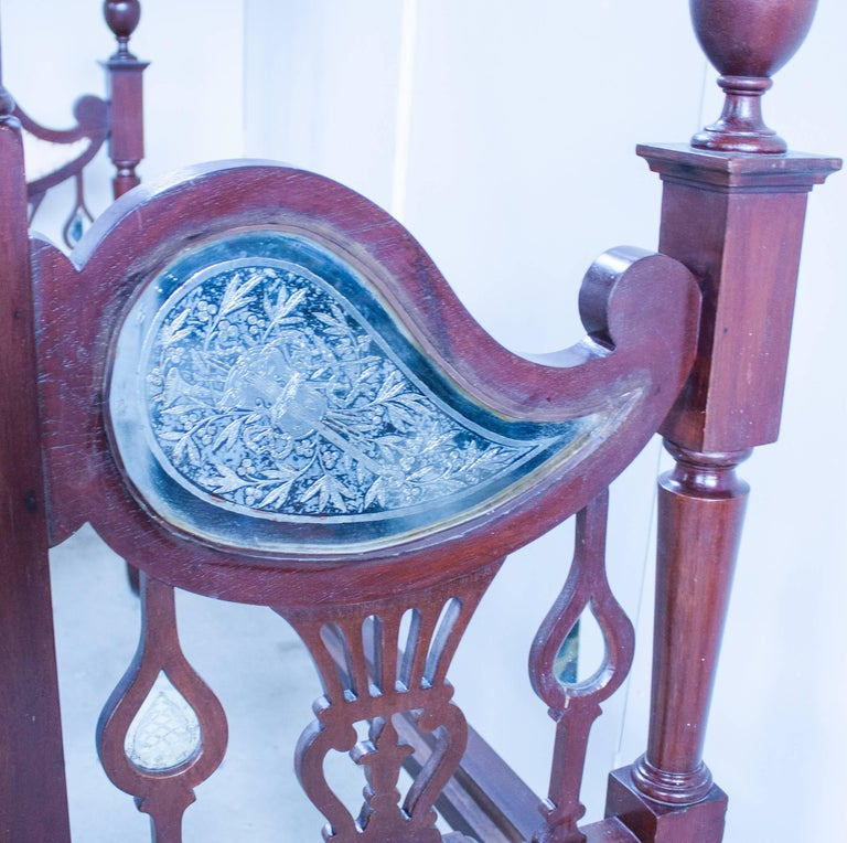 Mirror Anglo-Indian Mahogany Tester or Canopy Bed For Sale
