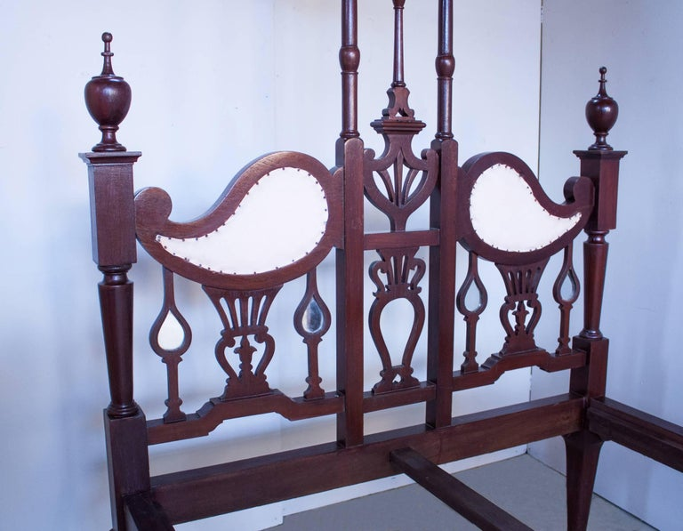 Anglo-Indian Mahogany Tester or Canopy Bed For Sale 2