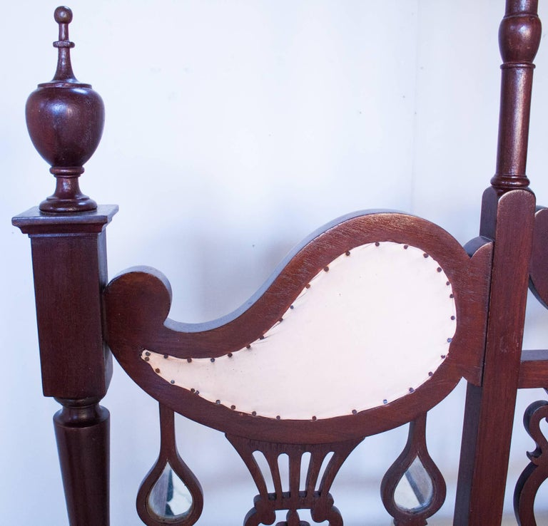 Anglo-Indian Mahogany Tester or Canopy Bed For Sale 3