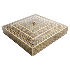 Anglo Indian Micro Sadeli Mosaic Inlaid Jewelry Box