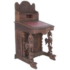 Anglo Indian Ornamental Writing Desk
