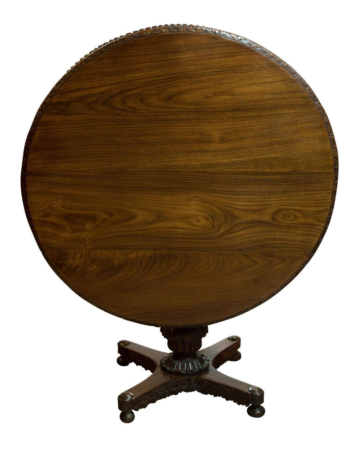 Anglo Indian Padauk Wood Centre Table Circa 1880