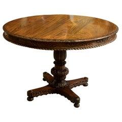 Anglo Indian Padauk Wood Centre Table, circa 1880