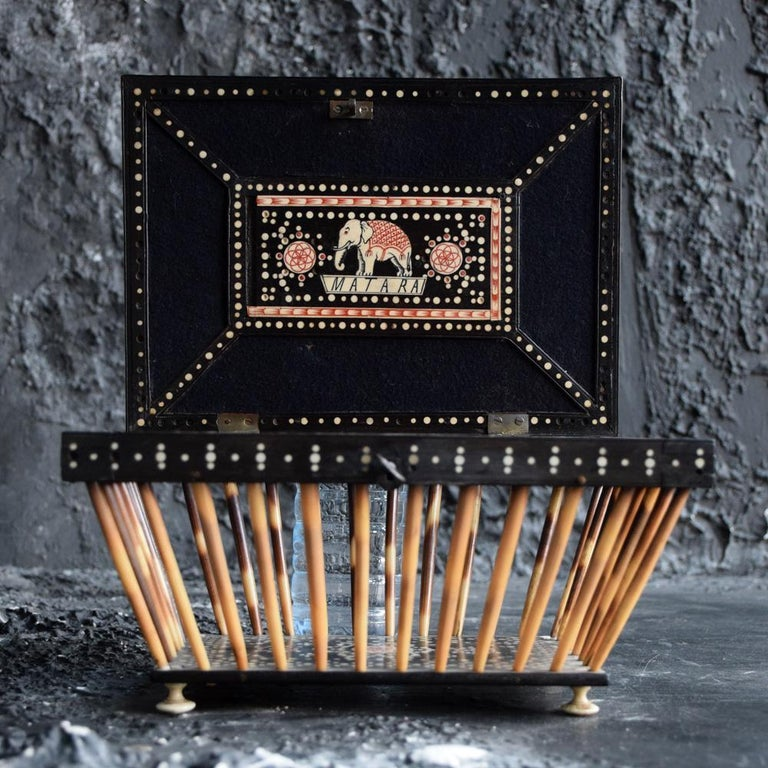 Anglo Indian Quill/Porcupine Open Casket For Sale 2