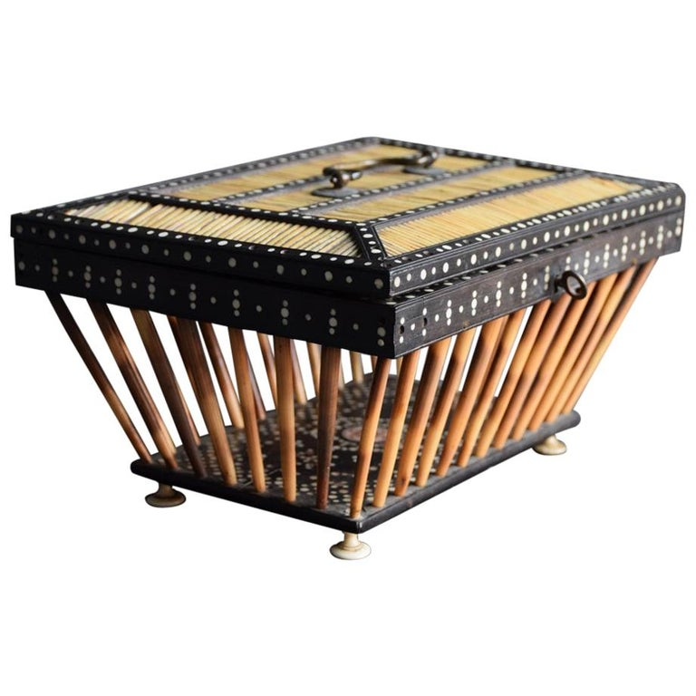 Anglo Indian Quill/Porcupine Open Casket For Sale