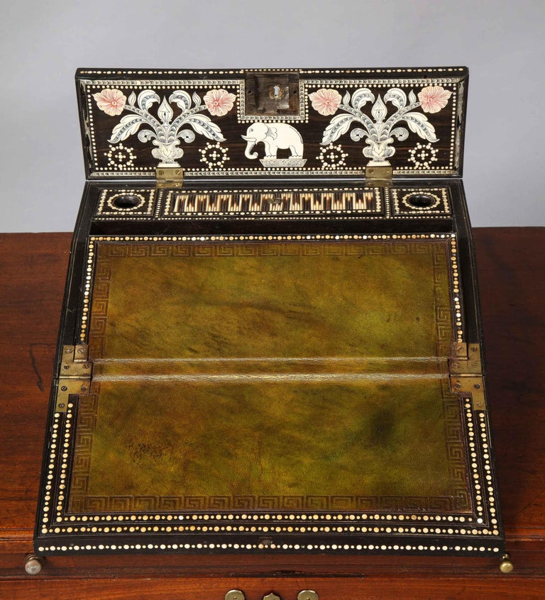 19th Century Anglo Indian Quill Writing Slope For Sale