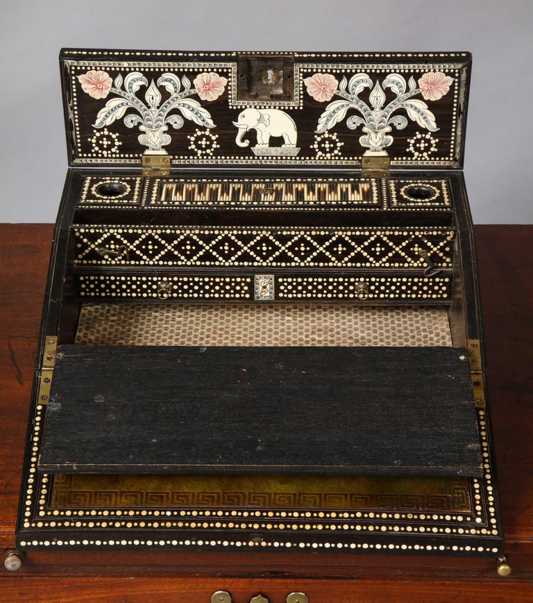 Anglo Indian Quill Writing Slope For Sale 2