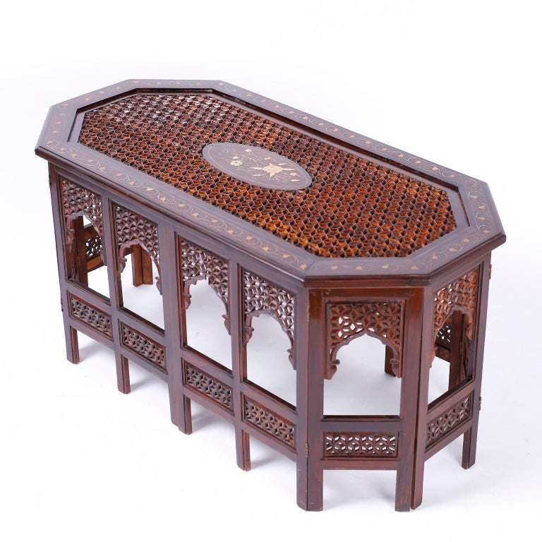 20th Century Anglo Indian Rosewood Coffee Table For Sale
