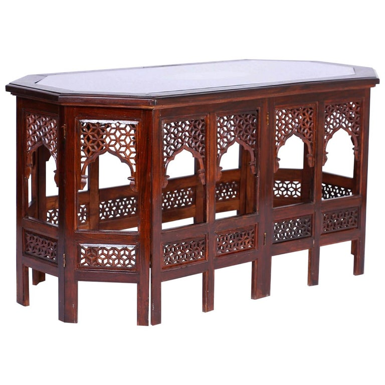 Anglo Indian Rosewood Coffee Table For Sale