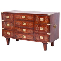 Anglo-Indian Rosewood Inlaid Chest